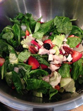 Berry Chicken Salad with Sweet Honey-Almond Dressing