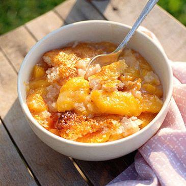 Delicious Individual Peach Cobbler