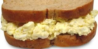 Easter hard boiled egg sandwich