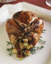 Spinach Feta Stuffed Cornish Hen