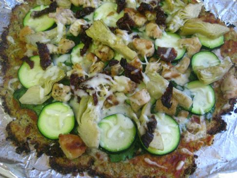 Fresh Pizza with Cauliflower Herbed Crust
