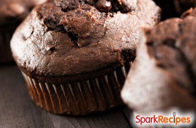 Low Fat Dark Chocolate Muffins
