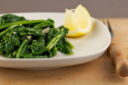 Beet Greens with Pine Nuts