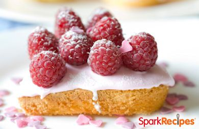 Frosted Raspberry Pound Cakes