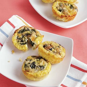 Philly Cheese Crustless Mini Quiche