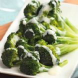 Broccoli with Two-Cheese Sauce