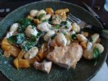 roasted squash and goat's cheese gnocchi