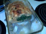 Spinach and Mozzarella Stuffed Turkey Meatloaf