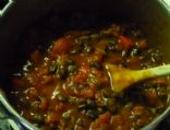 Black Bean Chili - serving = 1.5 cup