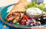 Grilled Salmon Wrap with Tzatziki Sauce