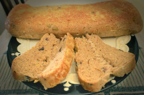 Focaccia con oliva (Whole Wheat Organic)