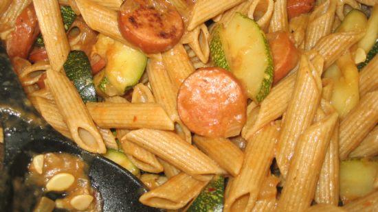 Zucchini Sausage Pasta