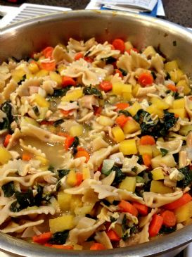 chicken noodle soups with root vegetables