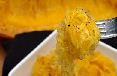 Garlic and Olive Oil Spaghetti Squash