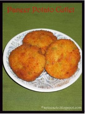 Potato Paneer Cutlet - Actifry