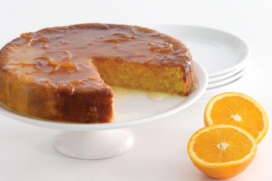 Armenian Orange Almond Cake with Orange Peel Glaze