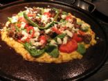 Cauliflower Pizza Crust a la Mediterranean