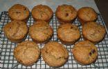 Big banana chocolate chip spelt muffins