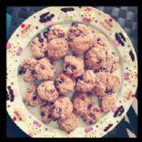 Tasty chocolate, butterscotch & pecan cookies