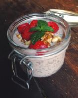 Berry Tahini Chia Pudding