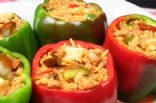 Quinoa Chickpea Stuffed Bell Peppers