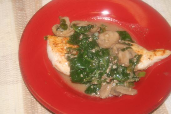 Chicken Smothered in Spinach/Mushrooms, 269