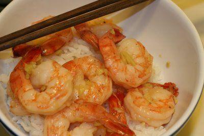 Ginger-Caramel Shrimp