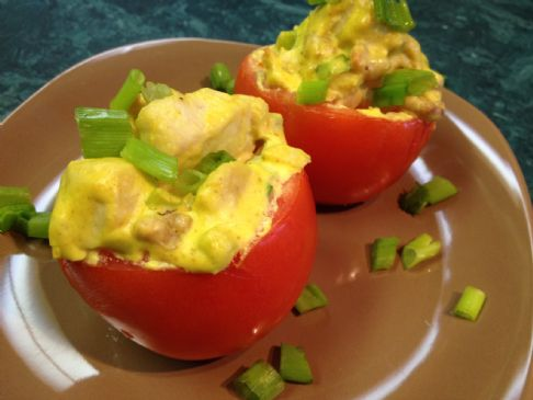Curry Chicken Stuffed Tomatoes