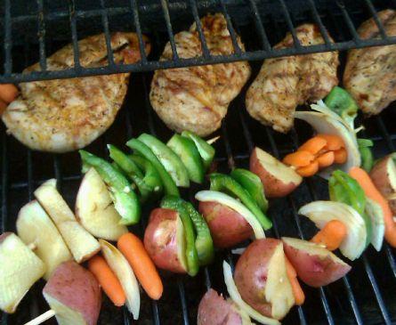 Yummy Grilled Chicken & Veggies