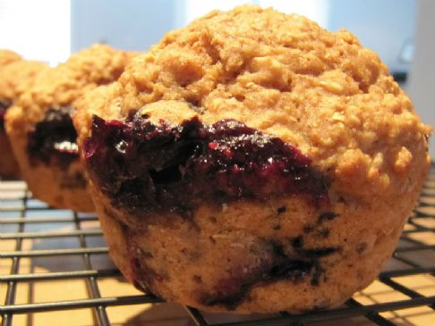 Oatmeal Apple Blueberry Muffins