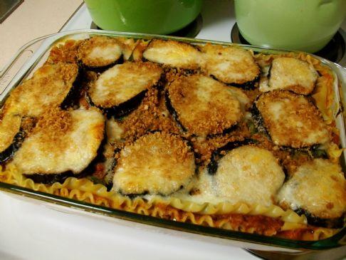 Eggplant Parmesan Lasagna Recipe | SparkRecipes