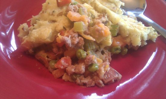 Clean Shepard's Pie with Garlic chive potatoes