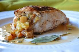 Brie and Apple Stuffed Chicken