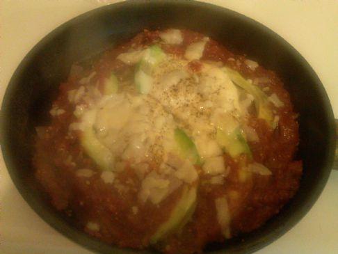 Kat's Eggs Marinara w/Avocado