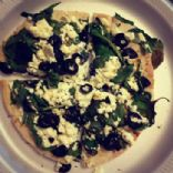 Spinach Feta Pita Pizza