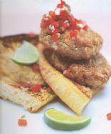 Fresh Tuna Burgers with Red Onion Salsa