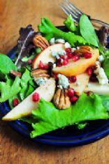 Apple Pear Salad with Pomegranate Vinaigrette - an Add a Pinch recipe