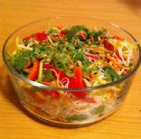 Improvised Rice Noodle Salad