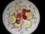 Cucumber, Onion & Tomato Salad (by ANNE737)