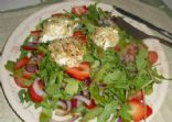 Warm Goat Cheese and Arugula Salad with Spring Strawberries  (From CNN's Accent Health)