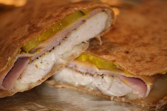 Turkey Cuban Sandwich Quesadilla