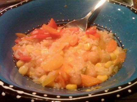 Sweet Pepper Coconut Corn Chowder
