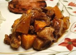 Honey Roasted Butternut Squash w/Apples, Raisins & Pecans