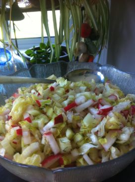 Radish and Celery Salad (with Malt and Dill Vinaigrette)