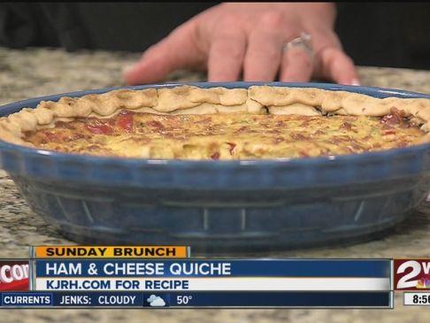 Lean Ham and Cheese Quiche'