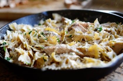 Bowtie Chicken Alfredo - Pioneer Woman