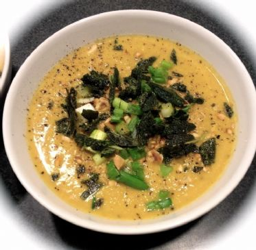Cauliflower Soup with Toasted Hazelnuts and Fried Sage