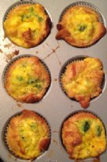 Broccoli & Cheddar Quiche Cupcake