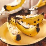 Stuffed Banana Boats - Microwave