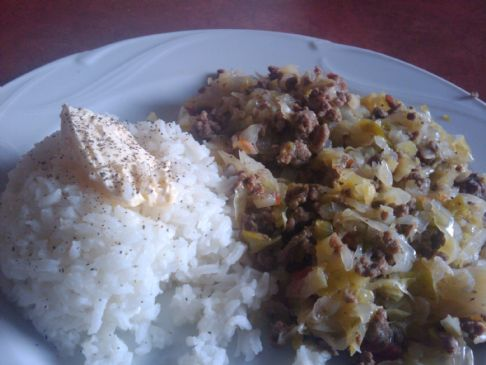 Simple Cabbage Beef Dinner
